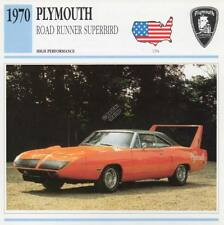 1970 PLYMOUTH ROAD RUNNER SUPERBIRD Classic Car Photo/Info Maxi Card
