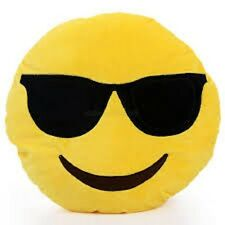 """USA SELLER Emoji Pillow 12"""" Inch Large Yellow Smiley 30cm Emoticon (Cool) Toy"""