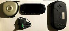SONY PSP 3004 CONSOLE NERA CUSTODIA CARICATORE