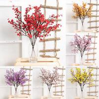 1PC Bouquets 50cm Artificial Flowers Cherry Blossoms Long Stem Branch Farmhouse