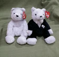 Ty Beanie Baby BRIDE & GROOM the Wedding Day Couple 2002 MWMT Retired