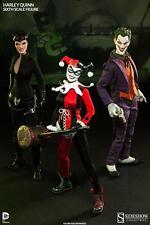 5-SIDESHOW EXCLUSIVE 1/6 SCALE FIGURES! HARLEY,JOKER,BATMAN,CATWOMAN & SUPERMAN!