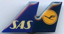 Scandinavian Airlines System SAS Cooperation LUFTHANSA Tail Pin Badge !!!