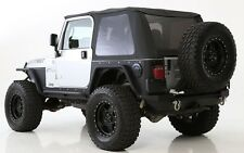 1997-2006 Jeep Wrangler Bowless Frameless Soft Top with Tinted Windows in Black