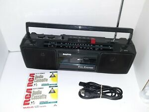 Vintage Sanyo M7204A AM/FM Stereo Cassette Boombox Radio 100% TESTED & WORKING