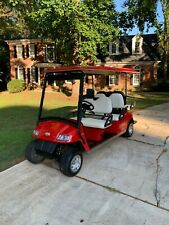 Street Legal  6 Passenger 48 Volt Golf Cart - Red / White