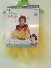 Disney Baby Snow White Infant Costume by Disguise Size Infant 6-12 Months New~