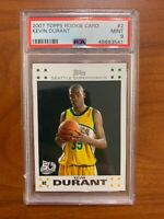 2007 Topps Kevin Durant #2 Rookie Card PSA 9 MINT