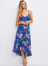 M & S ROSIE FOR AUTOGRAPH BLUE MIX PURE MODAL FLORAL NIGHTDRESS