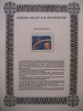 Centrafricaine 1986 Zentralafrika Mi 1203 : Halleyescher Komet - Edmond Halley
