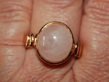 ZAMBEZIA MORGANITE CONTEMPORARY SOLITAIRE RING-SIZE R-9.790CTS-WITH ROSE GOLD