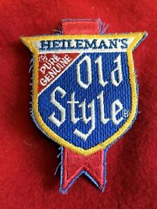 "VINTAGE ""HEILEMAN'S PURE GENUINE OLD STYLE"" PATCH shirt hat"