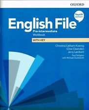 More details for oxford english file pre-intermediate workbook with key 4th edition @new@