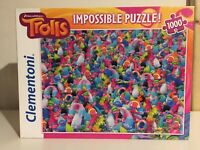 Trolls ~ Impossible Jigsaw Puzzle ~ Clementoni 1000 Pieces