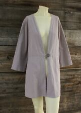 Soft Surroundings Jacket Tunic Top Jacket in Taupe Size 2X