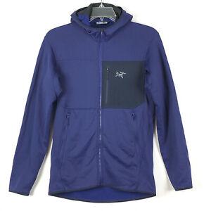 Arcteryx Mens M Fortrez Hoody Hoodie Fleece Jacket Full Zip Purple EXTRA NICE