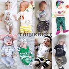 Newborn Toddler Kids Baby Boys Girls Outfit Clothes T-shirt Tops+Pants 2PCS Sets