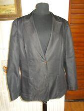 veste droite blazer coton/polyester gris foncé stretch DEVERNOIS 50FR 48D 22uk