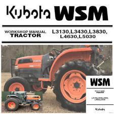 Kubota L3130, L3430, L3830, L4630, L5030 Service Manual Repair PDF CD  **Nice**