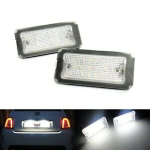 2 LED Licence Number Plate Light No Error 07+ For Fiat 500 500C 312 Abarth 595