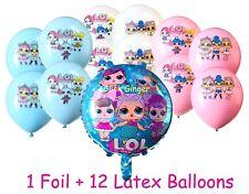 LOL Surprise Doll Blue Foil + 12 Latex Helium Quality Girls Party Decoration
