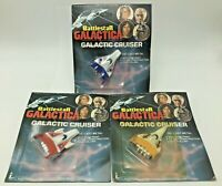 Vintage 1978 Lot of 3 Battlestar Galactica Galactic Cruisers Diecast Space Ships