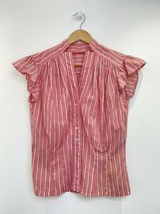 Vintage 40's 50's Blouse Pink Small