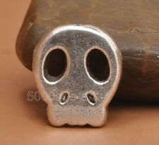 Wholesale 10Pcs Tibetan Silver Charm skull beads bead jewelry finding 15MM A3255