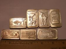 7 BARS MIX BIRTHDAY CAPRICORN SAGITARIUS HOMOKI-NAGY 15 GRAINS .999 SILVER CLAD