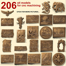 3d stl model cnc router artcam aspire 206 pcs panno collection basrelief