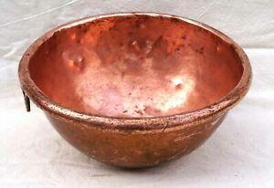 """French Cookware Copper Mixing Whipping Bowl Rolled Edge Ø 12 1/4"""""""