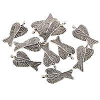 10pcs wing Tibetan Silver Bead charms Pendants fit bracelet 30x16mm free ship