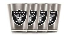 Oakland Raiders Shot Glass Set Acrylic Set of 4