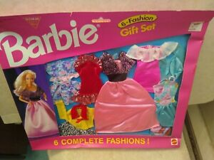 Barbie Fashion Pack Gift Set w/ 6 Complete Outfits 1996 Mattel