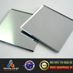 SILVER MIRROR ACRYLIC SHEET - SELECT PANEL SIZE - TRACKED FREE POSTAGE!