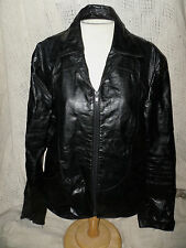 Genuine Black Leather Jacket By Scott Grey LTD With Satin Lining Made in Korea