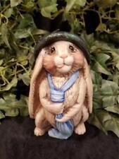 Bunny Rabbit Garden Yard Home Interior Ceramic Hand Painted