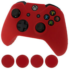 Silicone skin for Xbox One Controller & Thumb grips cover pack ? Red | ZedLabz