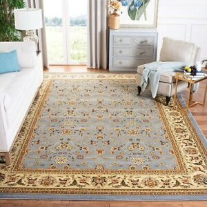Traditional Oriental Area Rug, 10' x 14', Light Blue / Ivory