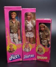 VINTAGE 1983 SAFARI BARBIE, KEN AND SKIPPER