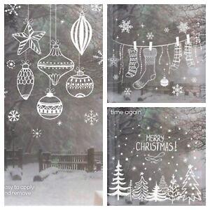 AVON Set Of 3 Christmas Window Decals. Brand New. Winter Scenes For Windows.