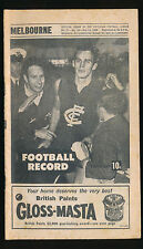 1968 VFL Football Record Melbourne v St Kilda July 13 Demons Saints