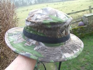 REALTREE HWG CAMOUFLAGE CAMO BOONIE BUSH STYLE WIDE BRIMMED SHOOTING HUNTING HAT