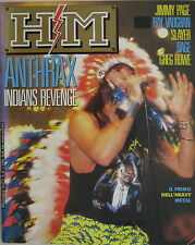 HM 50 1988 Anthrax Steve Ray Vaughan Rage Jimmy Page Running Wild Slayer Treat