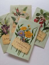 4 Victorian Christmas and New Year greetings card craft ideas card toppers
