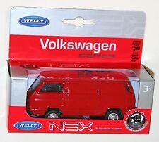 Welly - VW Volkswagen T3 Van (Red) - Model Scale 1/39