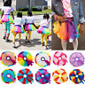 Kids Girl Summer Rainbow Princess Tulle Tutu Skirt Ballet Dance Party Mini Dress