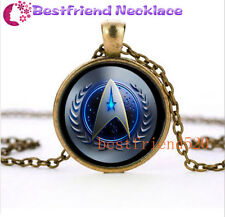 NEW Star Trek Movie Steampunk Glass Bronze necklace for men woman Jewelry#TZ41
