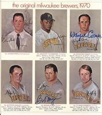 1970 MILWAUKEE BREWERS portrait set Autographed Signed by 5 COA SAVAGE WALTON