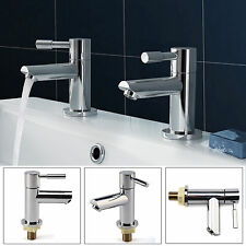Luxury Chrome Bathroom Taps Basin Taps Sink Hot & Cold Style UK Seller